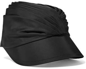 Prada Ruched Satin Hat - Black