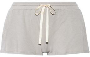 Eberjey Walker French Terry Pajama Shorts - Stone