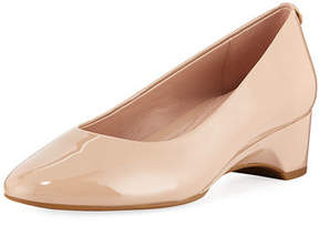Taryn Rose Babs Soft Patent Leather Demi-Wedge Comfort Pump