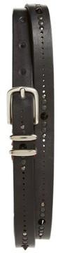 Eleventy Men's Studded Leather Belt