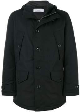 Closed hooded jacket