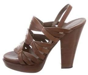 Bottega Veneta Slingback Platform Sandals