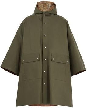 MACKINTOSH Fur-lined bonded-cotton hooded mac poncho