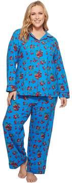 BedHead Plus Size Long Sleeve Classic Two-Piece Pajama Set Women's Pajama Sets