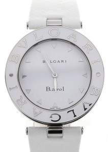 Bvlgari B.zero1 White Dial Stainless Steel Quartz Ladies Watch