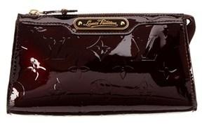 Louis Vuitton Amarante Monogram Vernis Leather Trousse Cosmetic Pouch.