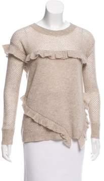 White + Warren Knit Ruffle Sweater