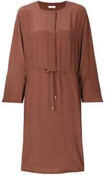 Peserico collarless drawstring shift dress