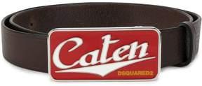 DSQUARED2 enamelled Caten buckle belt