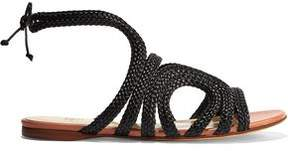 Francesco Russo Braided Leather Sandals