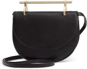 M2Malletier Half Moon Lux Calfskin Leather Crossbody Bag