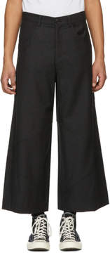 J.W.Anderson Grey Cropped Cut-Out Trousers