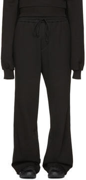 Juun.J Black Wide-Leg Lounge Pants