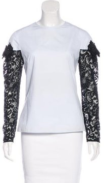 Creatures of the Wind Lace-Accented Embellished Top