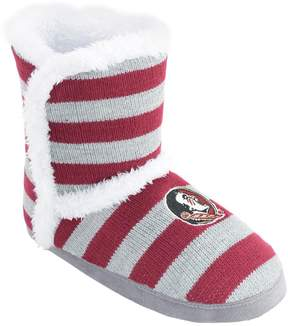 NCAA Women's Florida State Seminoles Striped Boot Slippers