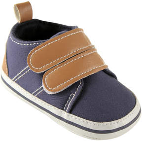Luvable Friends Navy & Tan Booties - Boys