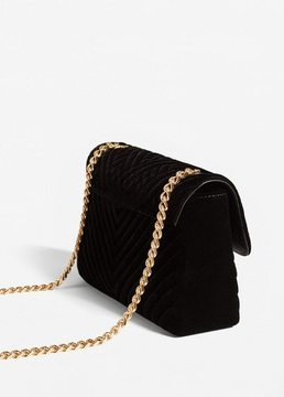 MANGO Velvel quilted bag