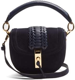 ALTUZARRA Ghianda mini suede top-handle cross-body bag