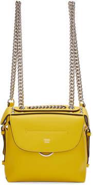 Fendi Yellow Mini Back to School Backpack