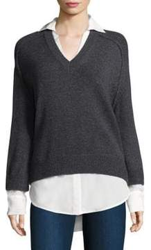Brochu Walker Knitted Layered Pullover