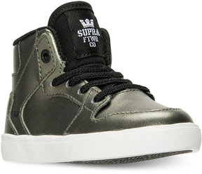 Supra Toddler Boys' Vaider Metallic Casual Skate High Top Sneakers from Finish Line