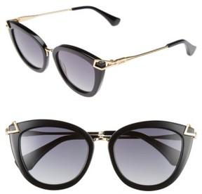 Sonix Women's Melrose 51Mm Gradient Cat Eye Sunglasses - Black Fade/ Black