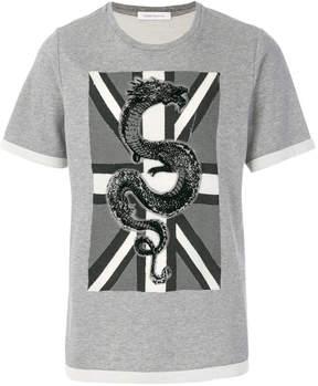 Pierre Balmain Union Jack dragon T-shirt