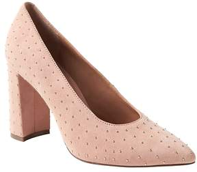 Banana Republic Studded Modern Block-Heel Pump