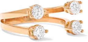 Delfina Delettrez 18-karat Rose Gold Diamond Phalanx Ring