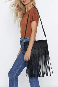 Nasty Gal WANT Don't Leave Me Hanging Fringe Bag