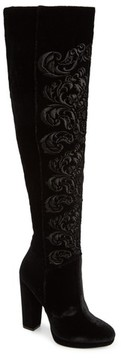 Jessica Simpson Women's Grizella Embroidered Over The Knee Boot
