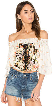 Band of Gypsies Poinsettia Floral Blouse