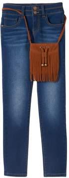 Mudd Girls 7-16 & Plus Size Stacked Skinny Jeans & Purse Set