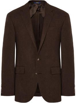 Polo Ralph Lauren Brown Polo 1 Slim-Fit Herringbone Wool Blazer