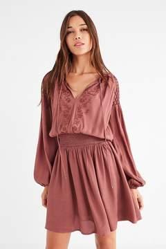 Astr Melinda Smocked Mini Dress