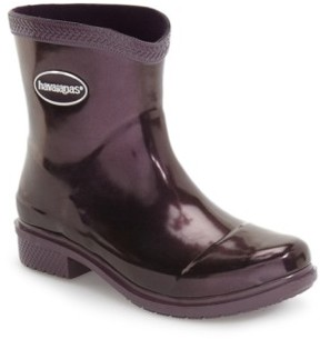 Havaianas Women's 'Galochas Low Metallic' Waterproof Rain Boot