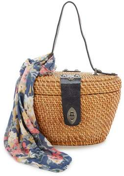 Patricia Nash Spring Wicker Collection Caselle Basket Bag