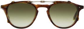 Garrett Leight Hampton Clip Sunglasses in Chesnut/Olive Gradient Clip