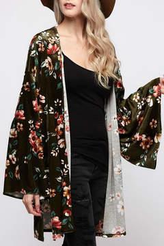 Cezanne Velvet Floral Kimono