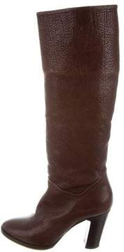 Etro Leather Knee-High Boots