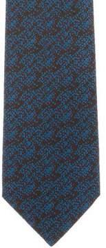 Charvet Silk Speckled Print Tie