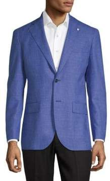 Lubiam Chambray Suit Jacket