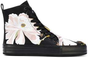 Ann Demeulemeester floral embroidered hi-top sneakers