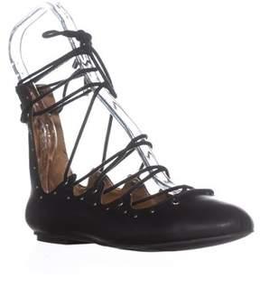 Mia Benni Studded Lace Up Gladiator Sandals, Black.