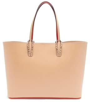 Christian Louboutin Cabata Grained Leather Tote Bag - Womens - Nude