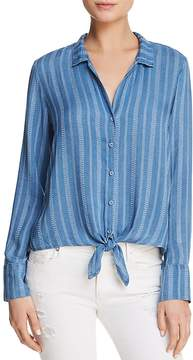 Bella Dahl Striped Tie-Front Button-Down Shirt