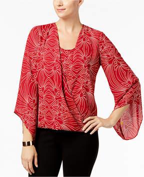 Alfani Angel-Sleeve Layered-Look Top, Created for Macy's
