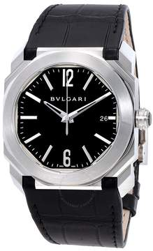 Bvlgari Octo Solotempo Black Lacquered Polished Dial Men's Watch