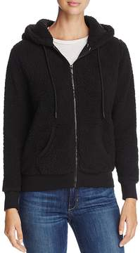 Andrew Marc Performance Teddy Fleece Zip Hoodie