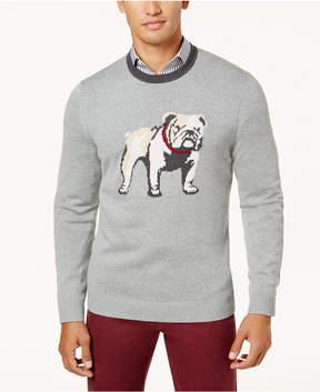 Club Room Men's Intarsia Bulldog Sweater, Created for Macy's